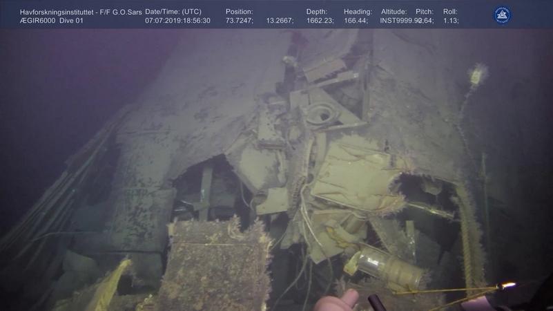 Радиация затонувшей АПЛ К-278 -Комсомолец- в 800 тысяч раз превысила норму