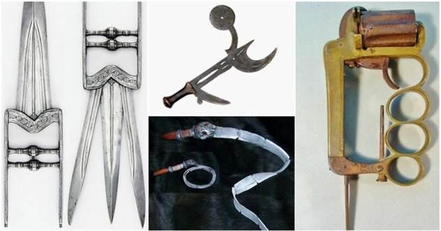 25 примеров страшного старинного оружия, от которого у вас пойдет мороз по коже                      ( 34 фото )