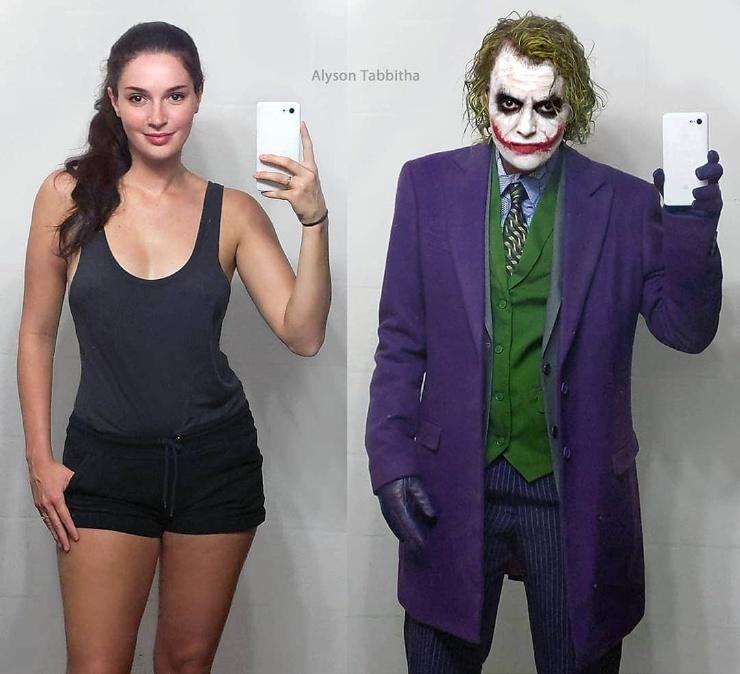 Девушка один в один повторяет образы знаменитых персонажей, на которых похожа меньше всего ❘ фото