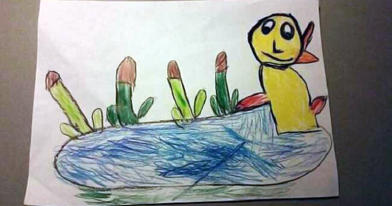 Детский рисунок что смешно, фон