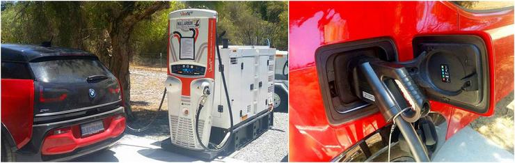 В Австралии электромобили заряжает дизельный генератор ❘ фото