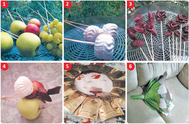 Букет из овощей и фруктов своими руками ( 2 фото )
