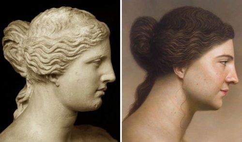 Художник показал, как могли выглядеть герои известных картин и скульптур прошлого, в серии гиперреалистичных портретов (8 фото)