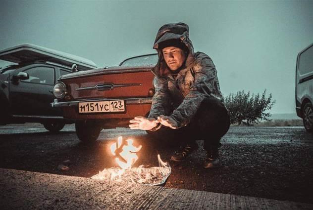 Россияне три недели путешествовали по Исландии на 40-летнем «Запорожце» ( 3 фото )