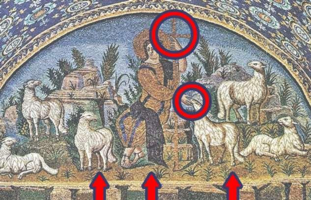Что зашифровано в символах самой красивой мозаики Равенны: «Добрый Пастырь»