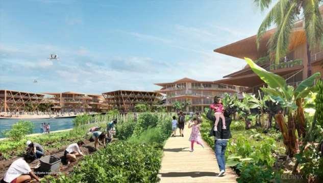 В ООН представили концепцию плавучего города будущего