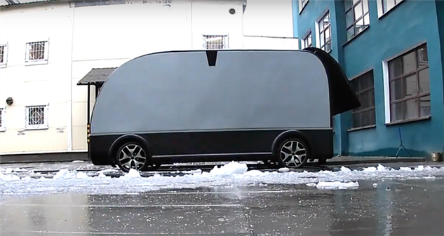 Российская компания показала испытания грузовика без кабины