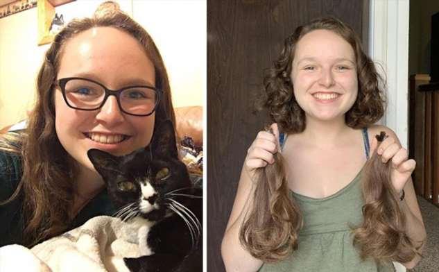 Люди до и после стрижки волос, которые они пожертвовали больным раком ❘ фото