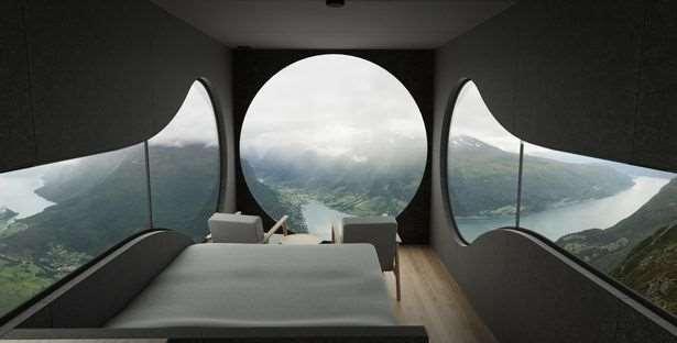 В Норвегии открыли отель-скворечник с видом на фьорды ❘ фото + видео