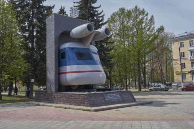 Первый поезд с реактивным двигателем в СССР
